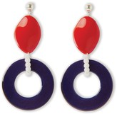 Riviera Pietrasanta Inspired Statement Hoops In White, Red & Blue