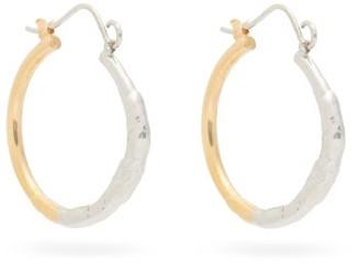 Marni Hammered Hoop Earrings - Silver Gold