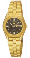 Seiko SUAG30 Women's 5 Automatic 17 Jewels Dial Gold Tone Stainless Steel Watch