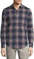 Original Penguin Long-Sleeve Plaid Sport Shirt