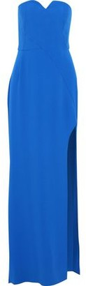 Halston Strapless Stretch-crepe Gown