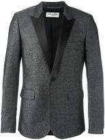 Saint Laurent peaked lapel metallic blazer - men - Silk/Cotton/Polyester/Wool - 48