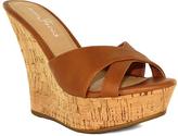 Fashion Focus Cognac Ardo Wedge Sandal