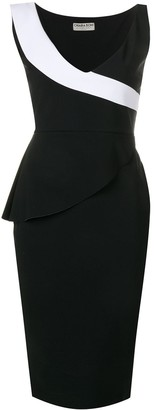 Le Petite Robe Di Chiara Boni Wrap Peplum Dress