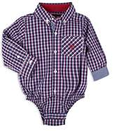 Andy & Evan Boys' Check Button-Down-Shirt Bodysuit - Baby