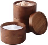 Rachael Ray Wooden 3-Tier Stacking Salt Box - Brown
