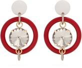 Marni Crystal-embellished hoop drop earrings