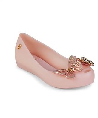 Mini Melissa Girl's Mel Ultragirl Butterfly Flats