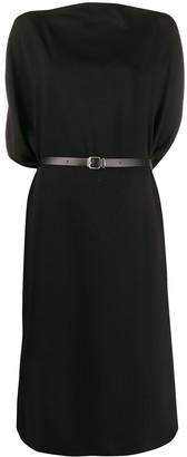 MM6 MAISON MARGIELA Belted Draped Sleeves Midi Dress