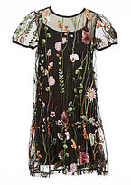 Soprano Big Girls 7-16 Floral-Embroidered Dress