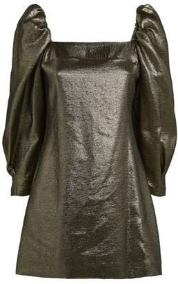 Sandro Puff-Sleeved Mini Dress