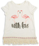 Soprano Girls 7-16 Flamingos With Love Tee