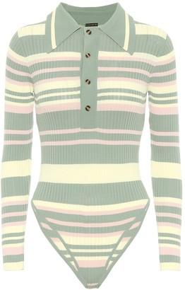 Dodo Bar Or Striped ribbed-knit bodysuit
