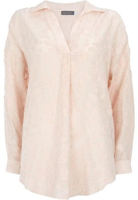 Mint Velvet Blush Jacquard Oversized Shirt