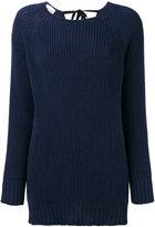 Semi-Couture Semicouture - boat neck ribbed jumper - women - Cotton - S