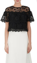Barneys New York WOMEN'S FLORAL LACE CROP TOP