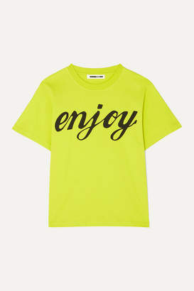 McQ Printed Cotton-jersey T-shirt - Bright yellow