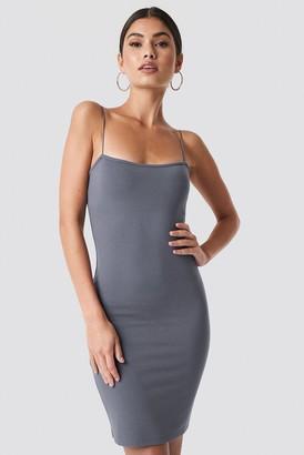 NA-KD Nicki X Bodycon Spaghetti Strap Dress Grey
