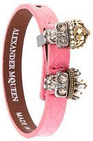 Alexander McQueen king and queen skull bracelet