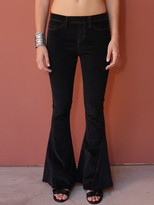West Coast Wardrobe Savannah Nights Flare Pants in Black