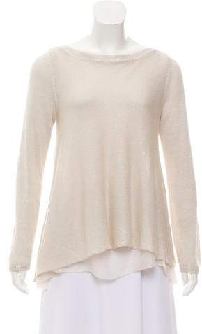 Brunello Cucinelli Embellished Linen-Blend Top