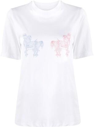 Kirin dragon-print cotton T-shirt