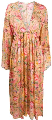 Anjuna Floral Flared Long-Sleeve Dress
