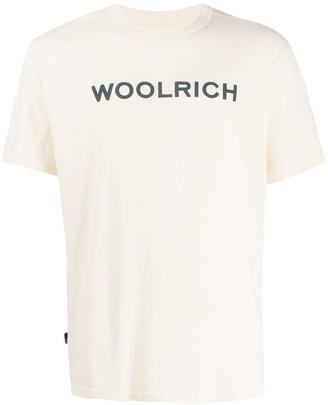 Woolrich crew-neck logo T-shirt
