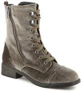 Report Women's Huey Velvet Combat Boot