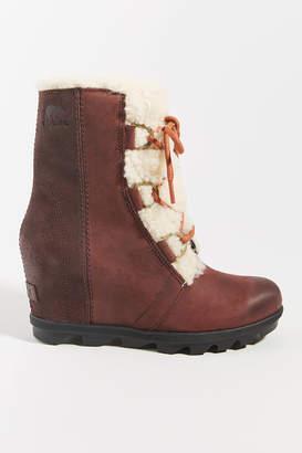 Sorel Shearling Waterproof Wedge Boots