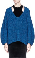 Alexander Wang Oversized V-neck chunky knit sweater