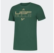 adidas South Florida Bulls Men's Locker Stacked T-Shirt