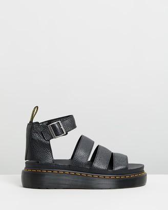 Dr. Martens Womens Clarissa II Quad Leather Platform Sandals