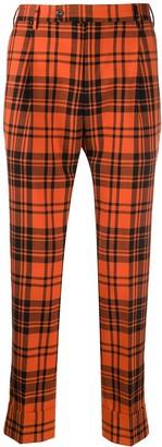 Pt01 Tartan Print Trousers