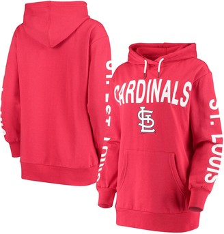 G Iii Women's G-III 4Her by Carl Banks Red St. Louis Cardinals Extra Inning Colorblock Pullover Hoodie