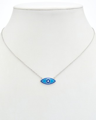 Alanna Bess Limited Collection Silver Cz Evil Eye Necklace