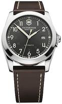 Victorinox 241565 Infantry Vintage Leather Strap Watch, Brown/black