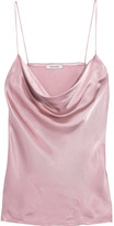 Protagonist Draped Hammered-charmeuse Camisole - Pink