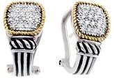 Effy Jewelry Effy 925 Sterling Silver & 18K Yellow Gold Diamond Earrings, 0.30 TCW