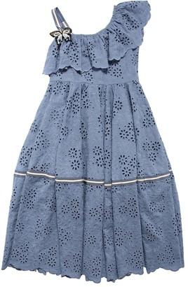 MonnaLisa Eyelet Lace Dress W/ Butterfly Applique