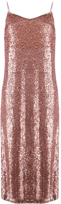 L'Autre Chose Sequinned Shift Dress
