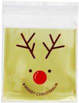 Generic Christmas Cartoon Elk Cookie Bakery Candy Biscuit Roasting Gift Plastic Bag