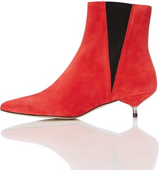 Find. Womens Boots in Suede Chelsea Style with Kitten Heel
