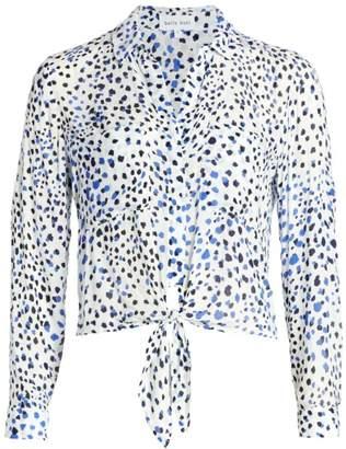 Bella Dahl Leopard Tie-Front Blouse