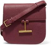 Tom Ford Tara Small Textured-leather Shoulder Bag - Burgundy