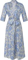 Luisa Beccaria M'O Exclusive Floral Print Cotton Shirt Dress