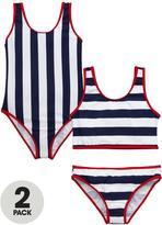 Very Girls Nautical Swimsuit and Tankini Set