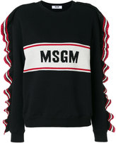 MSGM frill trim logo sweater