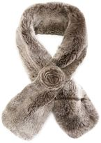 N.Peal rabbit fur scarf