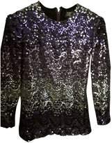Christian Dior Purple Glitter Top for Women Vintage